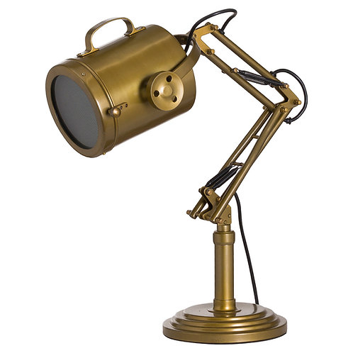 Brass Industrial Table Lamp