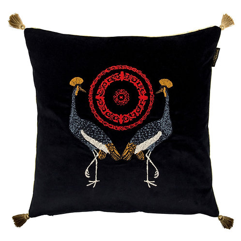 Mind the Gap Birds of the Garden Velvet Cushion