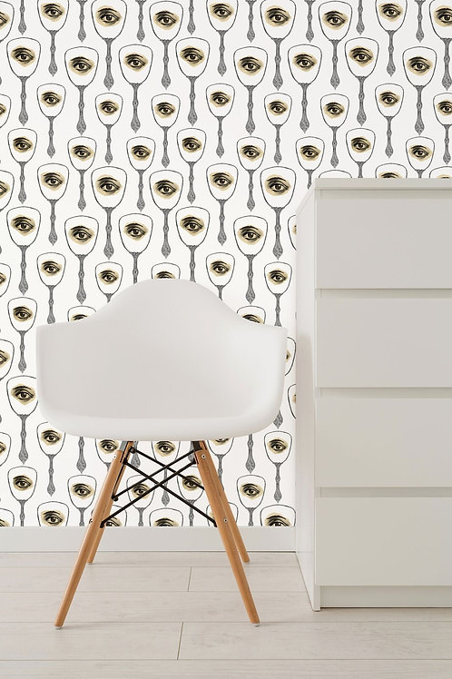 Mind the Gap - Mirror's Eye Neutral Wallpaper