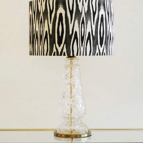 Black & White Patterned Lampshade