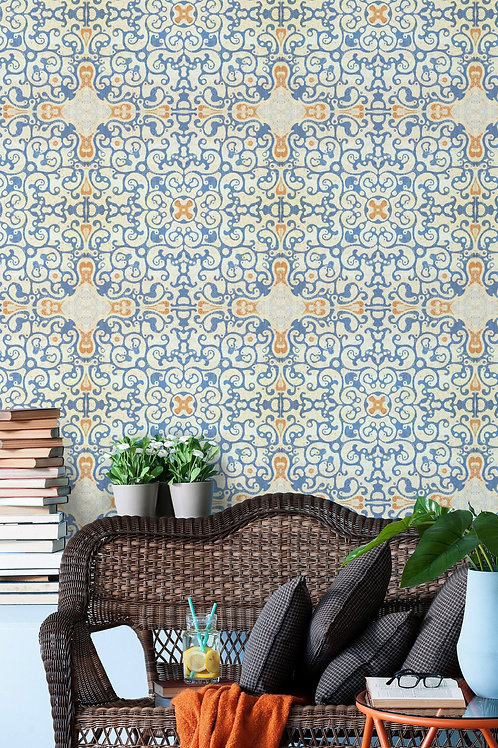 Mind the Gap - Spanish Pattern Wallpaper
