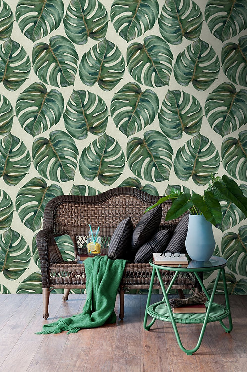 Mind the Gap - Tropical Leaf Wallpaper