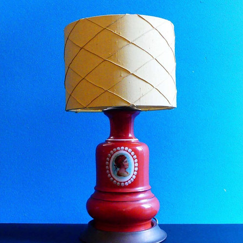 Mariska Meijers Yellow Wyber lampshade with Vintage Base