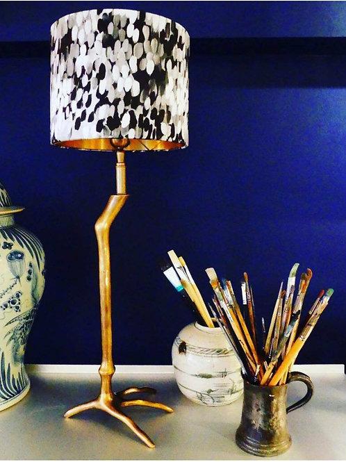 Black & White Painted Lampshade