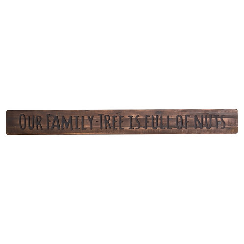 Our Family Tree Rustic Wooden Message Plaque