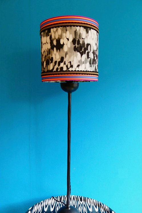 Mariska Meijers Prêt-à-porter tulipa black lampshade with base