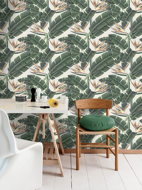 Mind the Gap - Tropical Bloom Wallpaper