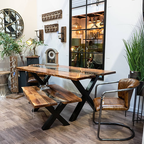 Live Edge Collection River Dining Table