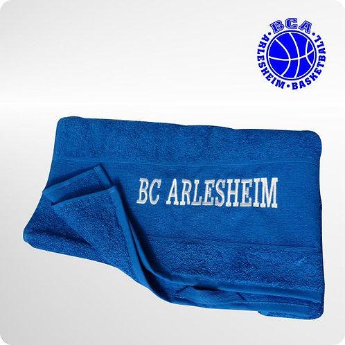Handtuch mit Stick des Vereinsnamens