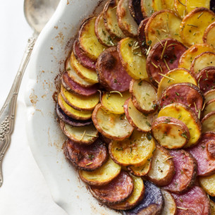 Healthy Potatoes Au Gratin with Herbs