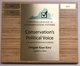Conservation's Political Voice, 2015, 2016, 2017