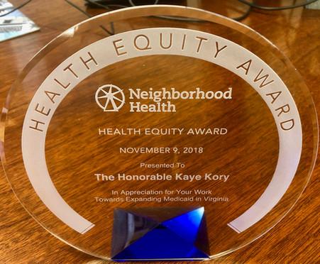 Health Equity Award, 2018