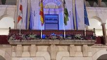 El Ayuntamiento de Andújar se tiñe de azul con motivo del Día de Europa