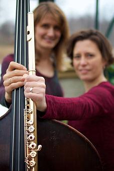 Extreme Duality: Tess, flute/Melissa, bass