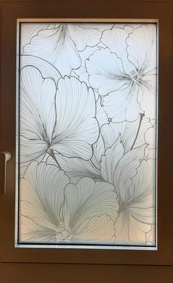 Vitrage décoré par impression numérique