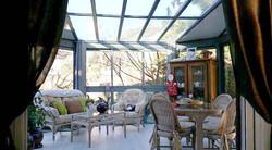 Veranda kiosque toiture vitrée