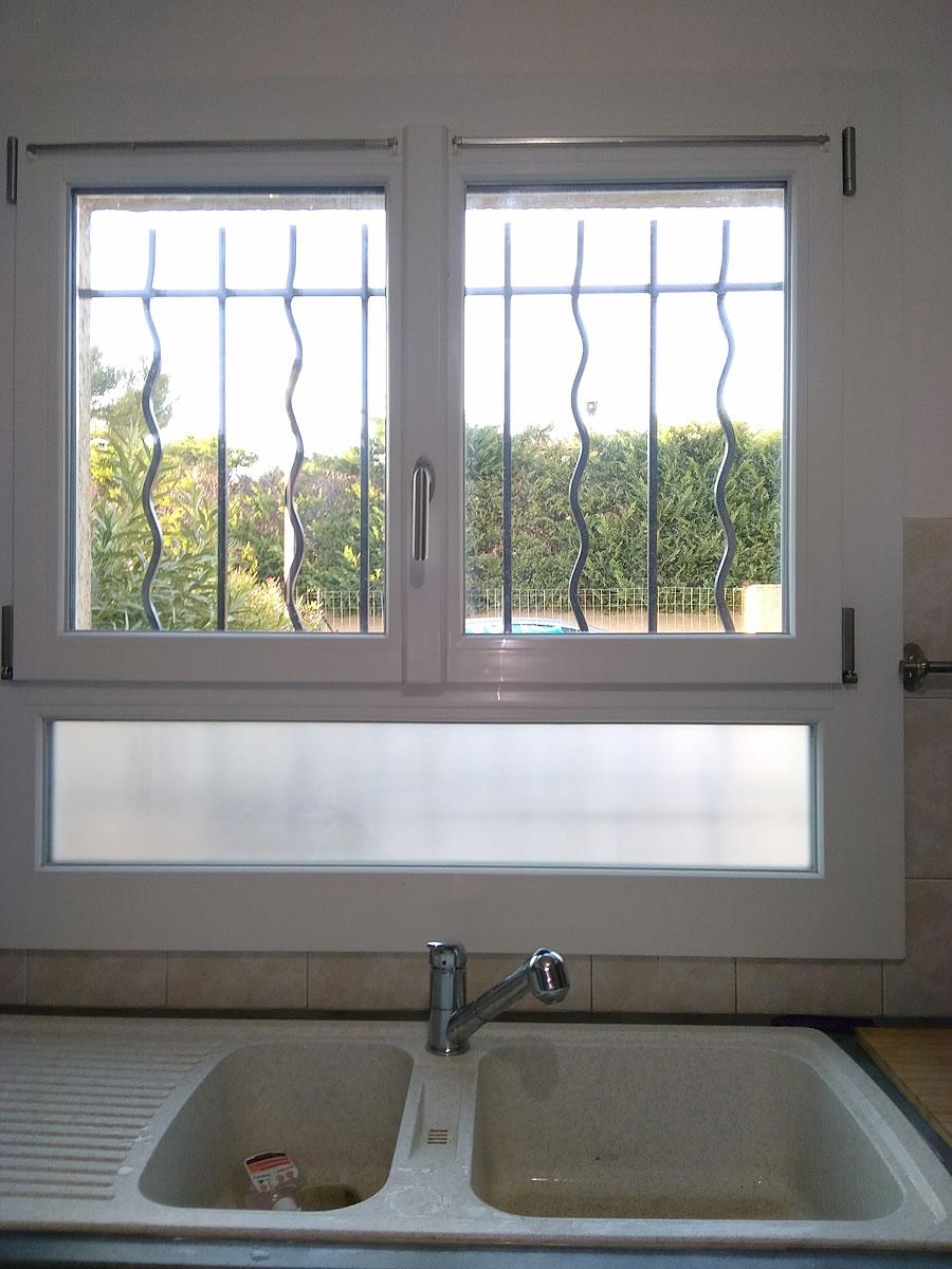Fenêtre PVC sur allège fixe