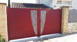 c13 menuiserie portail lames mixtes