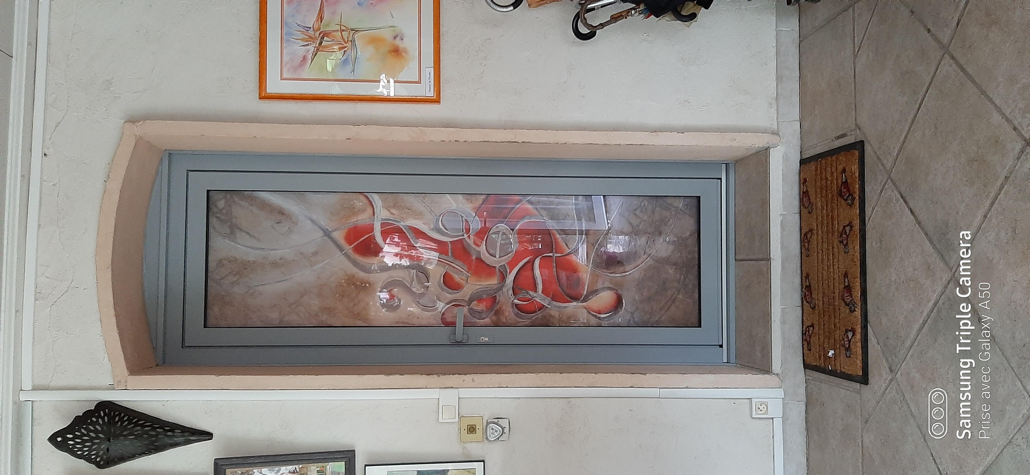 Porte d'entrée oeuvre d'art