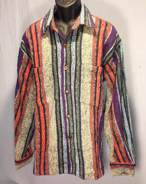 Long Sleeve Shirt with Multi-Colored Stripes