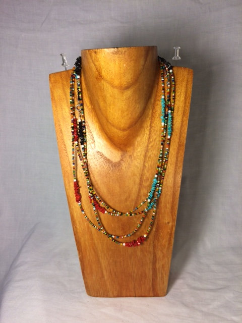 Multi-Colored Long Beaded Necklace