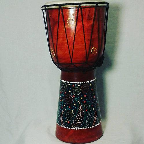 Handcarved Indonesian Djembee Drum