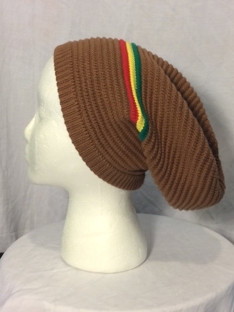 Brown Tam Green, Gold and Red Stripes