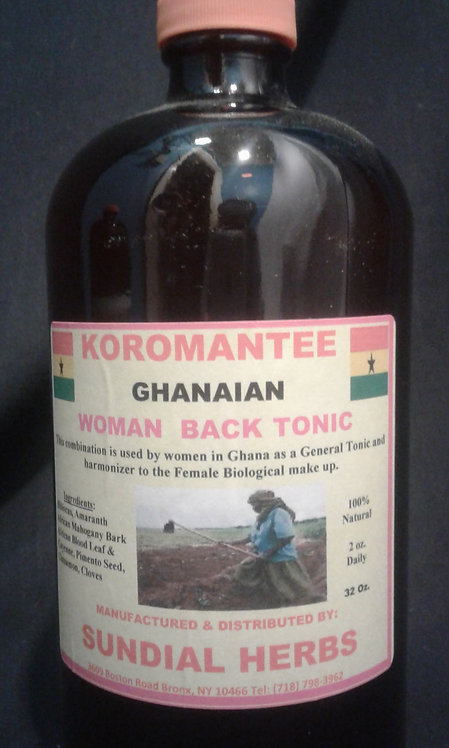 Koromantee Ghanaian Woman Back Tonic 16oz