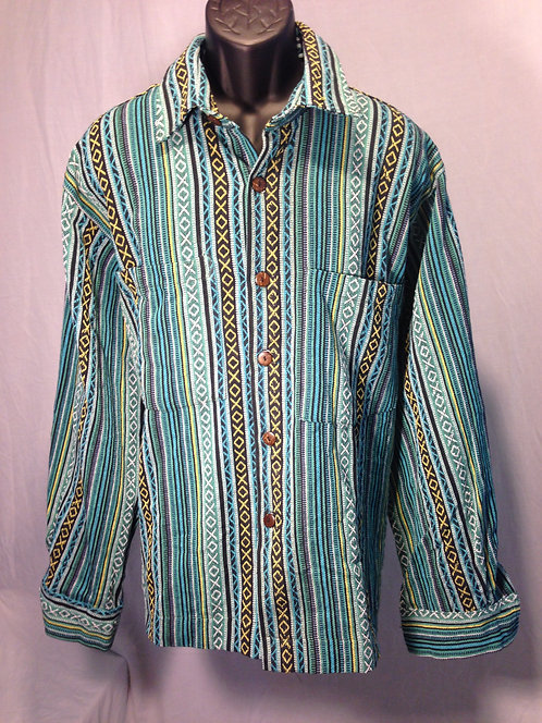 Long Sleeve Shirt with Blue Stripes