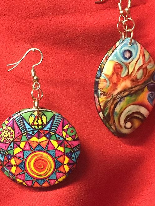 Handcrafted Mural Earrings
