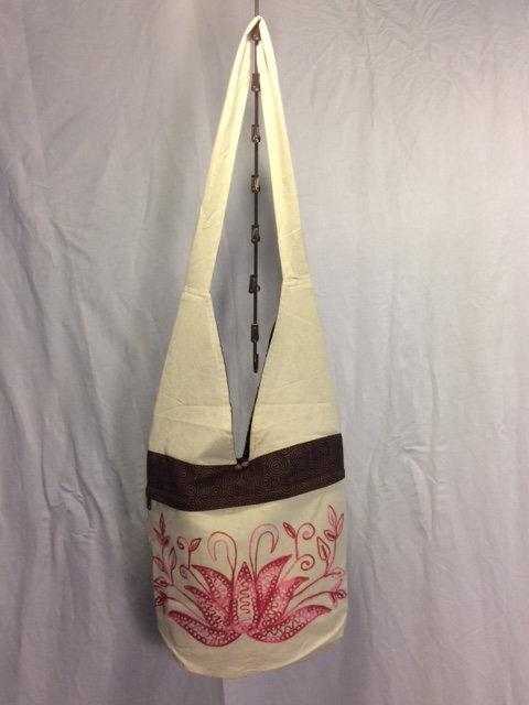 Creamy Pink Lotus Bag