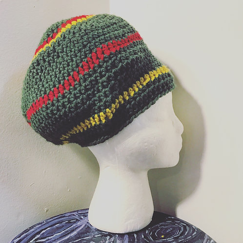 Rasta Crown [olive green, red, yellow]