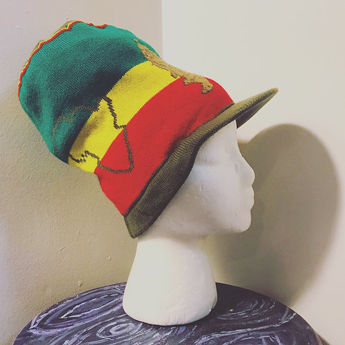Rasta Crown [map pattern, green cap]