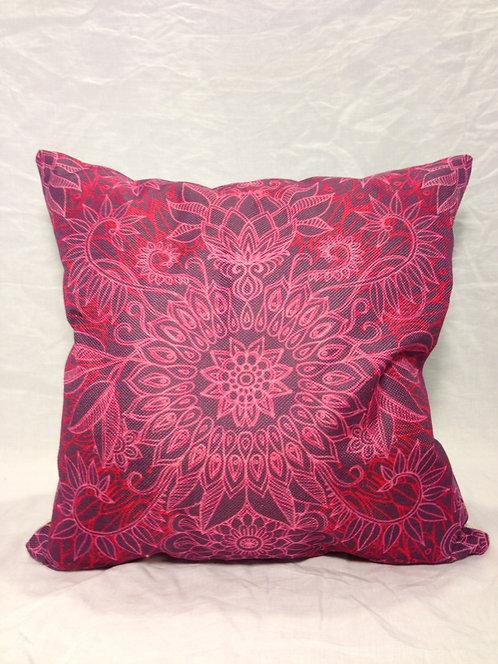 Canvas Pink Mandala Pillow