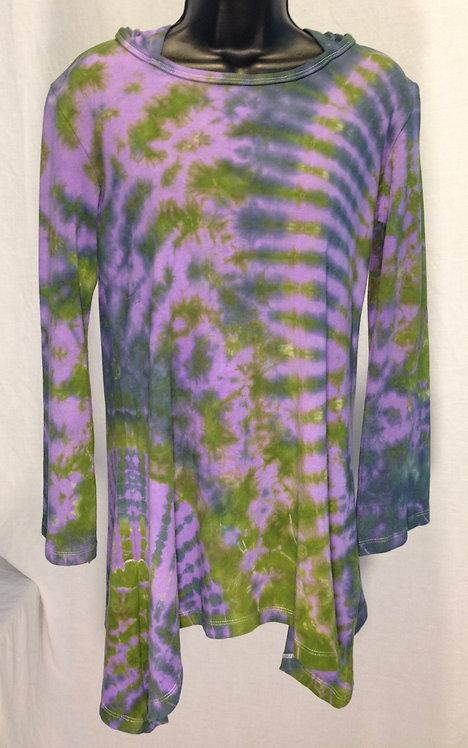 Purple, Navy & Green Tie Dye Hoodie