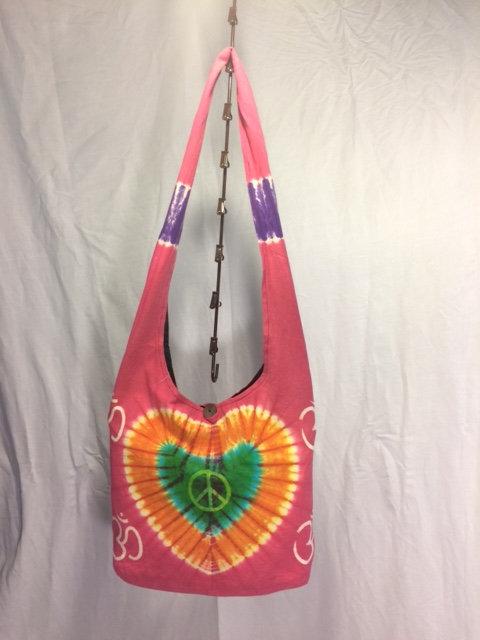 Pink Om Peace Bag