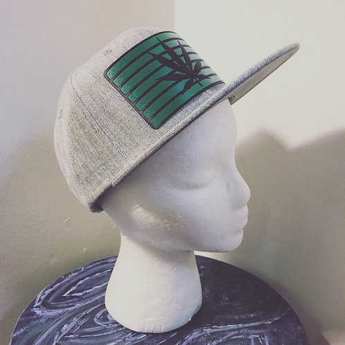Baseball Hat [green/black leaf]