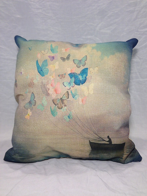 Canvas Butterfly Sails Pillow