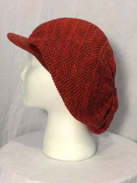 Red Flecked Crown with Peak