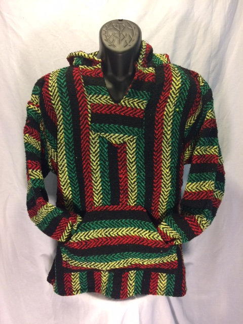 Red, Gold and Green Baja Hoodie