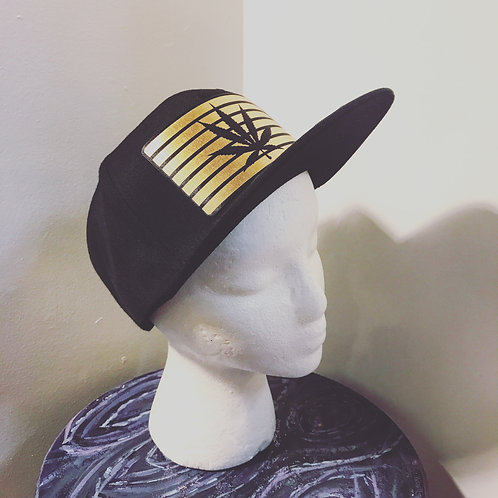 Baseball Hat [gold and black leaf]