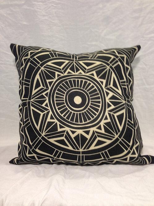 Black & White Canvas Aztec Pillow