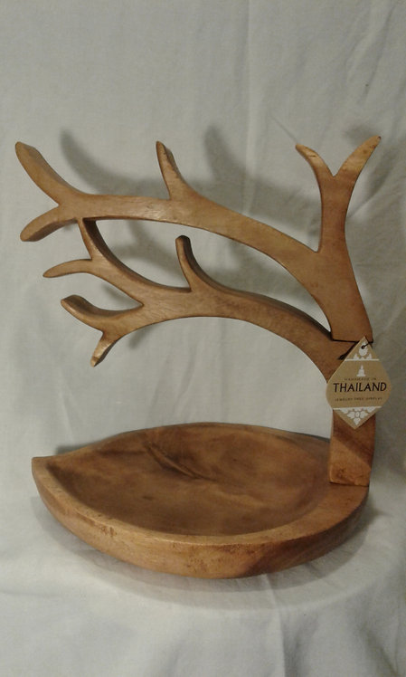 Solid Wood Tree Jewelry Stand