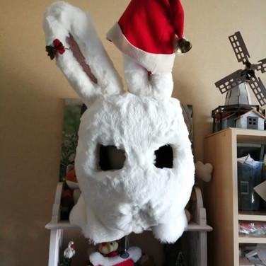 Pti Lapin avec son bonnet de Noël