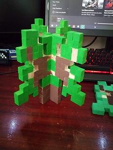 Pousse de chêne Minecraft 3D