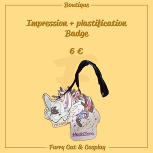 Impression et plastification badge