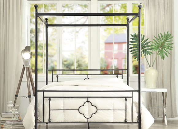 Queen Canopy Bed (mattress not included)