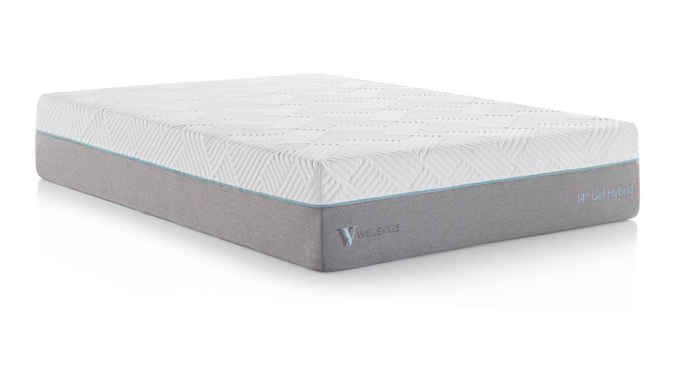 "Wellsville 14"" Gel Memory Foam Hybrid Mattress"