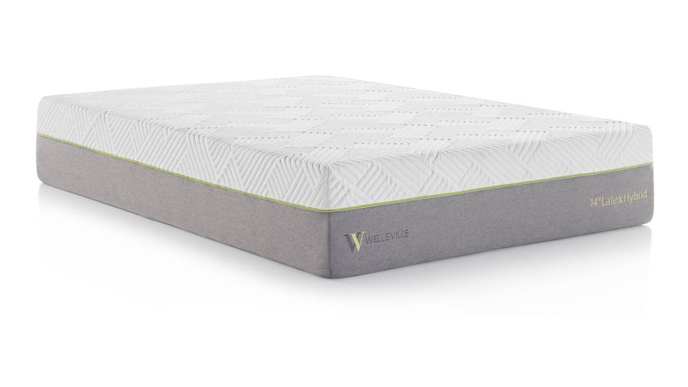 "Wellsville 14"" Latex Hybrid Mattress"