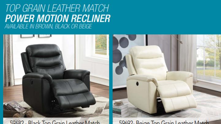 Top Grain Leather Recliner